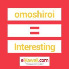Day 52 of 365. Omoshiroi = Interesting. . #japanese #japaneseculture #japaneselanguage #japaneselife #japaneselesson #japaneselifestyle #japaneseteacher #japaneseliving #japaneselearning #japaneselessons #japanesetutor #japanesetravel #eiKawaii #culture #lesson #learning #learningjapanese #learnjapanese #speak #learn #travel #challenge #kaiwa #teaching #passion #awesome #fun #eichan #wordoftheday #365daychallenge