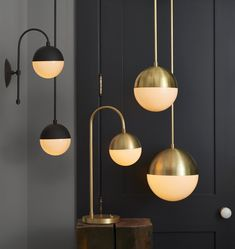 The whole collection of sexy pendants, sconce, and table lamp. Cedar & Moss collection from Rejuvenation