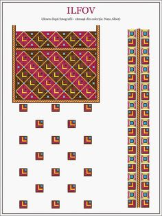 Folk Embroidery, Embroidery Patterns, Cross Stitch Patterns, Hama Beads, Traditional Outfits, Beading Patterns, Textile Art, Pixel Art, Diy And Crafts