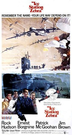 Ice Station Zebra (1968) movie poster. Tu-95 as a transport for paratroopers?