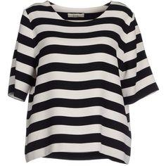Ella Luna Blouse (525 GTQ) ❤ liked on Polyvore featuring tops, blouses, black, short sleeve tops, ella luna, short sleeve blouse, short-sleeve blouse and round collar blouse
