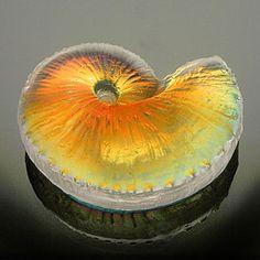 Light Opera - blown glass - art glass, paperweights, vases, kaleidoscopes :  art blown home accents shell