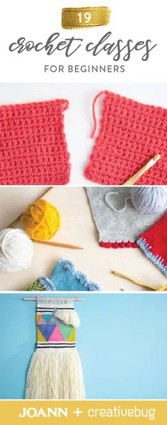 Going back to the basics when it comes to creating works of art with yarn has never been easier. Thanks to these 19 Crochet Classes for Beginners from Creativebug, you can learn to create woven wall hangings, potholders, rugs, and more.