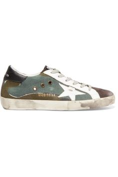 97 best goldengoose images in 2019 golden goose, leather, loafers  golden goose deluxe brand super star distressed printed canvas, leather and suede sneakers