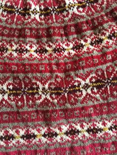 Red Fair Isle Norwegian sweater Wool sweater Made to order Knitting Charts, Knitting Patterns, Sewing Patterns, Crochet Patterns, Crochet Cozy, Filet Crochet, Fair Isle Pullover, Red Sweaters, Sweaters For Women
