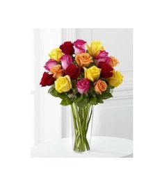 Brighten up a cold winter day with a colorful arrangement of flowers!