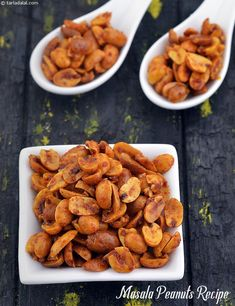 Masala Peanuts Recipe , How To Make Spicy Masala Peanuts
