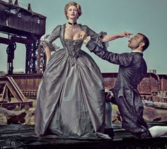 Photographed by Steven Klein, Vogue, October 2016.  From the Magazine: Janet McTeer and Liev Schreiber return to Broadway with Les Liaisons Dangereuses.