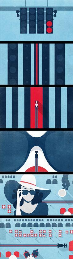 Inspirations graphiques #16 Sean McClintock | Martini Racing - Monza animation
