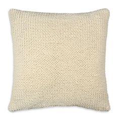 "DKNY Loft Stripe Chalk Jersey Knit Decorative Pillow, 16"" x 16"" | Bloomingdale's"