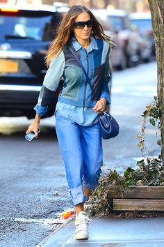 Patchwork denim outfit!