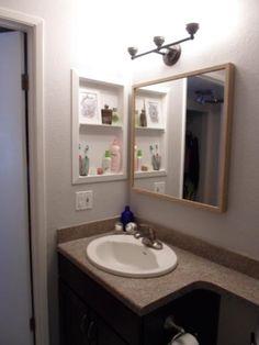 Bathroom Cabinets Open Shelving