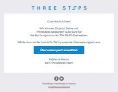 Neue Auszahlungsfunktion bei ThreeSteps - Threesteps News, Travel