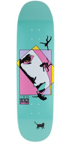 Welcome Skateboards Miller Faces On Catblood (Teal) Deck - Custom Skateboard Decks, Painted Skateboard, Skateboard Deck Art, Custom Skateboards, Skateboard Design, Cool Skateboards, Penny Skateboard, Skateboard Clothing, Skateboard Tattoo