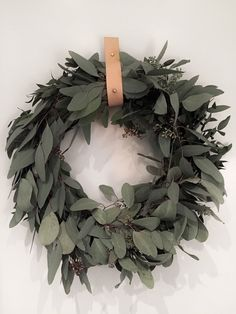 I'm not that good with flowers and find this wreath making a little tricky… but the eucalyptus wreath is up and smells really nice Christmas Diy, Christmas Wreaths, Xmas, Eucalyptus Wreath, How To Make Wreaths, Decoration, Grapevine Wreath, Grape Vines, Furniture Decor