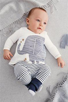2016 autumn baby boy clothes baby clothing baby elephant Long sleeve Tops+Stripe Pants clothing set-in Clothing Sets from Mother & Kids on…