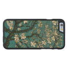 Branches of an Almond Tree in Blossom green Carved® Maple iPhone 6 Bumper Case Summer Iphone Cases, Iphone Case Covers, Free Text, Flower Paintings, Create Your Own, Outdoor Blanket, Carving, Landscape Pictures, Branches