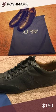 Armani jeans Men's shoes Armani jeans men's shoes. Worn only once! Great condition. Dust bag included Armani Jeans Shoes Sneakers