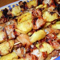 Hawaiian kabobs - made these for quests and they were fabulous! Repin