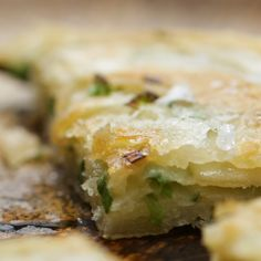 Spring Onion Pancake with Ginger Dipping Sauce