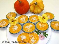ขนมฟักทอง หอม หวาน เหนียวนุ่ม อร่อย Dessert, Pumpkin, Orange, Fruit, Cake, Food, Desserts, Pumpkins, Food Cakes