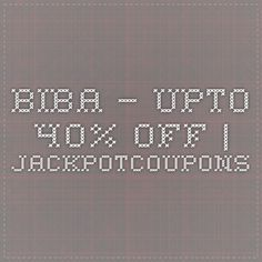 BIBA – Upto 40% off | Jackpotcoupons