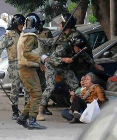 Brave Sisi coup soldiers against people of Egypt :(. Is it Revolution Or Coup?