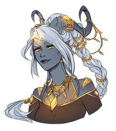 Kivaa (Lightforged Draenei) by Faebelina | Blizzard World of Warcraft fan art