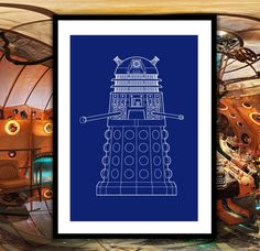 Doctor Who Dalek Patent, Dr. Who Dalek Poster, Dalek Blueprint,  Dalek Print, Dalek Art, Dalek Decor, Doctor Who Wall Art, Doctor Who Decor by STANLEYprintHOUSE  3.00 USD  We use only top quality archival inks and heavyweight matte fine art papers and high end printers to produce a stunning quality print that's made to last.  Any of these posters will make a great affordable gift, or tie any room together.  Please choose between different sizes and col ..  https://www.etsy.com/ca/l..