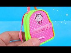 DIY Miniature Backpack with zippers - YouTube