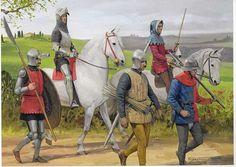 Italian knights - illustration of Graham Turner
