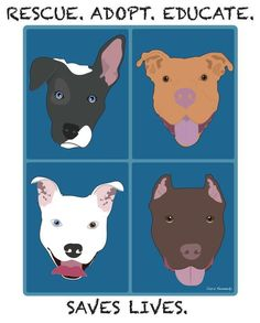 Pitbull Awareness Art. I love my rescued pibble!