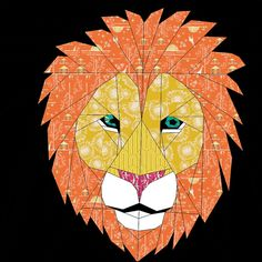 Lion A 24 Inch Paper Pieced Pattern