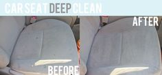 cleaning cars Beige car seats lookin' stained and gross? Deep clean them in a half an hour for FREE! Check out this awesome cleaning tip from Holly Helps! Diy Car Cleaning, Diy Cleaning Products, Cleaning Solutions, Deep Cleaning, Daily Cleaning, Cleaning Recipes, Spring Cleaning, Car Upholstery Cleaner, Cleaning Car Upholstery