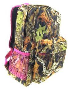 Large Backpack, Mackenzie Orange Camo   *Backpacks & Luggage ...