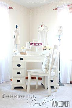 Love Of Family & Home: Goodwill Desk Makeover