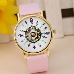 Fashion Rose Flower Print Silicone Floral Jelly Sports Quartz Watches Clocks For Women Men