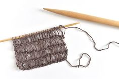 Learn how to use condo knitting for light and airy projects made on two very different sizes of knitting needles. Knitting Stitches, Knitting Needles, Free Knitting, Knitting Scarves, Knitting Patterns, Crochet Patterns, Garter Stitch, Knitting Projects, Free Pattern