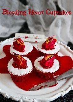 Beating Heart Cupcakes @Lorraine Elliott