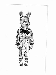 Pen & ink By the Caswell Twins Http://www.facebook.com/vanashartwork #realism #inkdrawing #sharpiedrawing  #draw #greyscale #movie  #filmart #dynamicduos #realisticdrawing #spooky #scary #horror #horrorfilm #bunnyboy #bunny