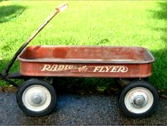 Details About Vintage Red Radio Flyer Wagon Kids Toy