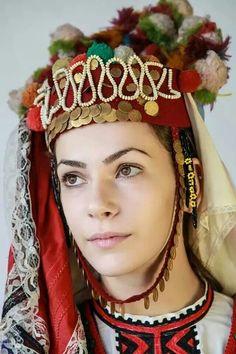 Bulgarian woman in traditional costume