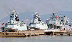 Acorazados chinos forman parte de la Task Force (coalición militar internacional para combatir a los piratas (Somalia, golfo de Aden, mares Indigo, Arábigo y Rojo)