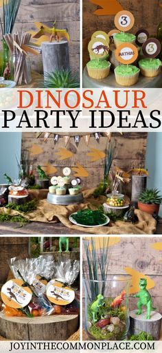 Are you looking for dinosaur birthday party ideas for kids? Take a look at my rawr-tastic dinosaur party featuring dinosaur printables, simple finger foods, rustic party decorations, toy dinosaurs and fun party favors. Dinosaur Party Decorations, Birthday Party Decorations, Dinosaur Party Favors, Dinosaur Birthday Party, 4th Birthday Parties, Party Favors For Kids Birthday, 5th Birthday Ideas For Boys, 4th Birthday Party For Boys, 3rd Birthday Party For Boy