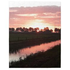 #beauty - #Sunrise Over Farmland Jigsaw Puzzle