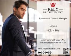 Restaurant General Manager required £40 -£50k basic #RestaurantGeneralManager #RestaurantManager #RestaurantManagerLondon #GeneralManager  @RestaurantGeneralManager @RestaurantManager @RestaurantManagerLondon @GeneralManager