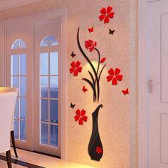 Delicate Flower Unicorn Wall Sticker Christmas decor New Year Window Bar Gift HG