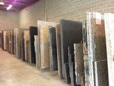 Beginning of a kitchen remodel- choosing the granite countertops