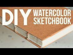 DIY watercolor sketchbook