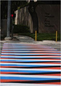 Cruz Diez, Crosswalks of Additive Color, 2009